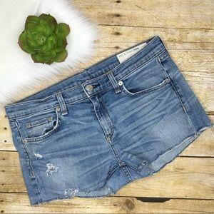 Rag & Bone denim cut off shorts